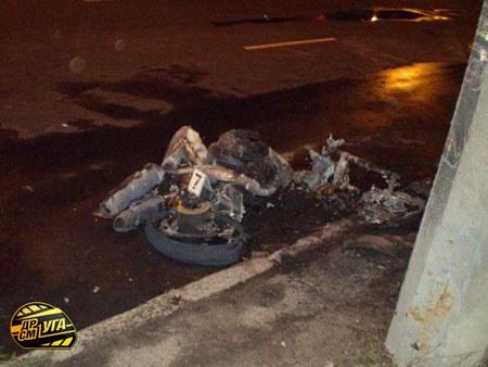 в ленинском районе сгорел мотоциклист фото практике используют